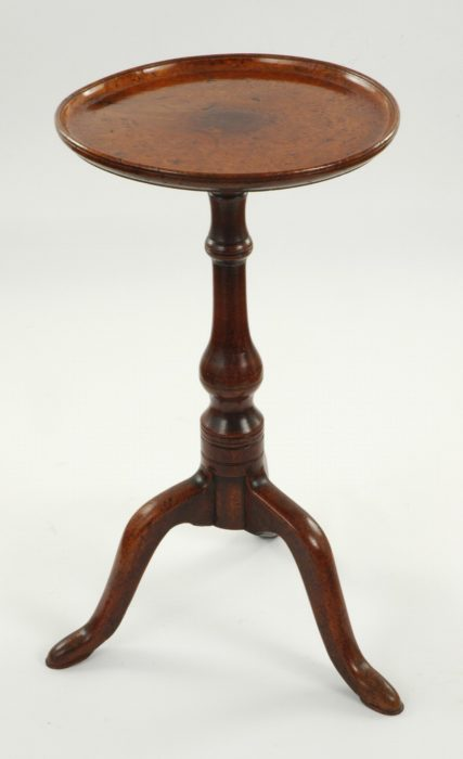 A George II Burr Elm Tripod Table