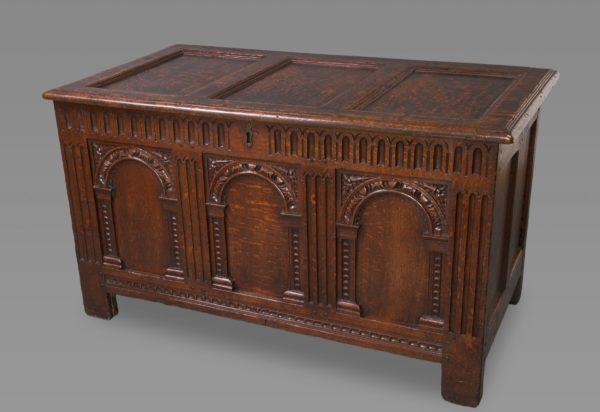 Exceptional Elizabeth I Carved Oak Coffer