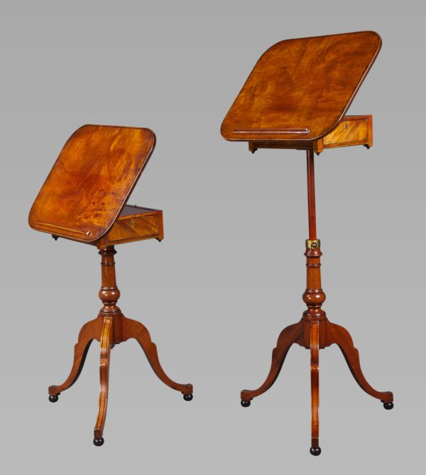 A Rare Pair of George III Telescopic Reading Tables Attributed to Gillows