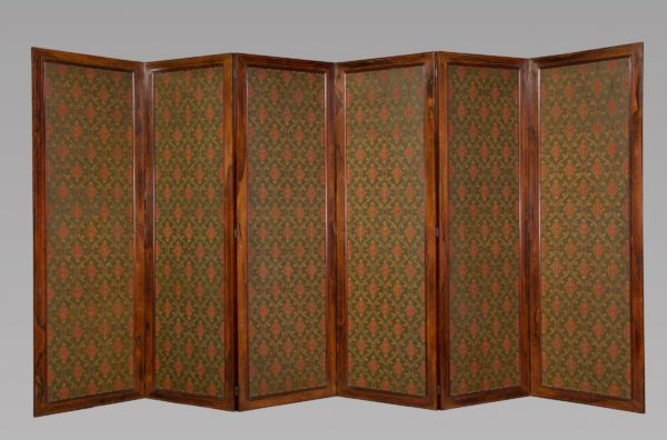 Fine Gothic Revival Six Panel Screen after A.W.N. Pugin