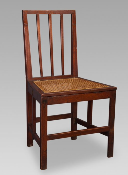 18th Century Mahogany Naval Campaign Chair