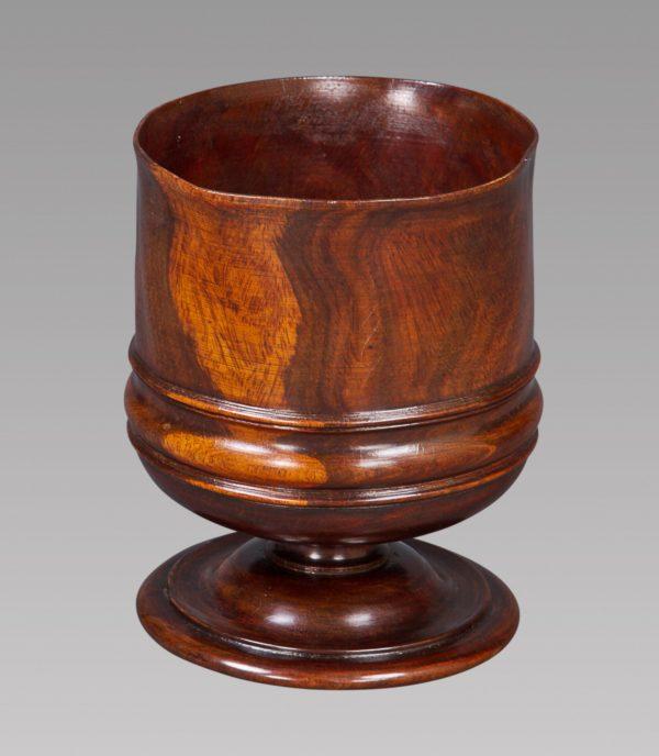A Charles II Turned Lignum Vitae Wassail Bowl
