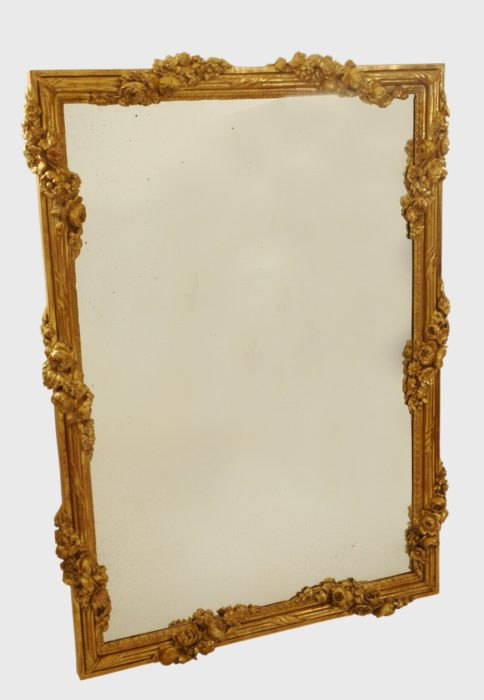 Louis XVI Carved Giltwood Mirror
