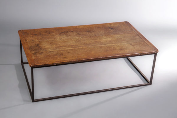 A Superb Spanish Walnut and Metal Coffee Table