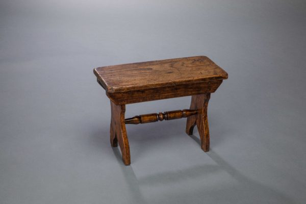 Rectangular Elm Plank Stool