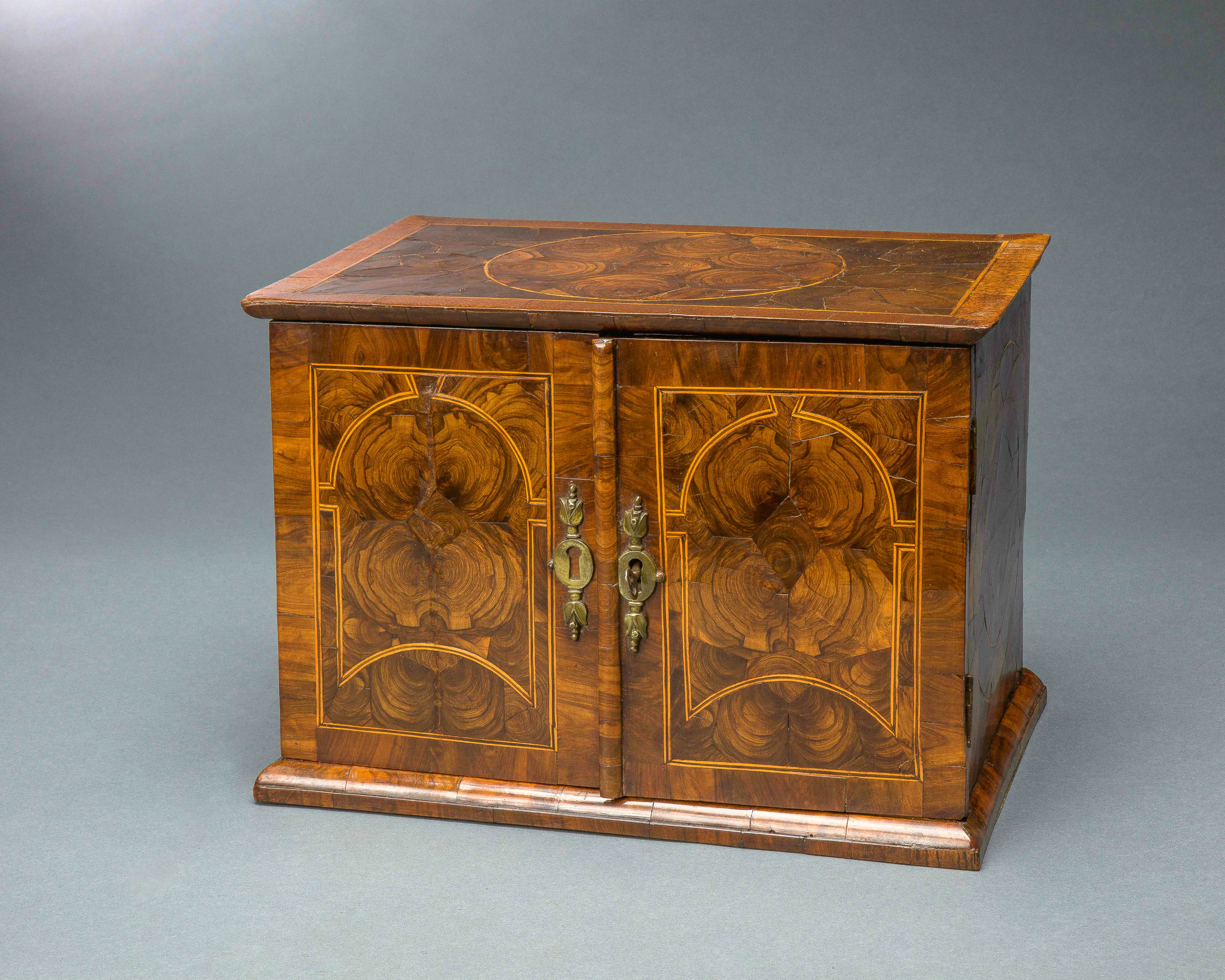 Very Rare William and Mary Oyster Veneered Small Table Cabinet ...