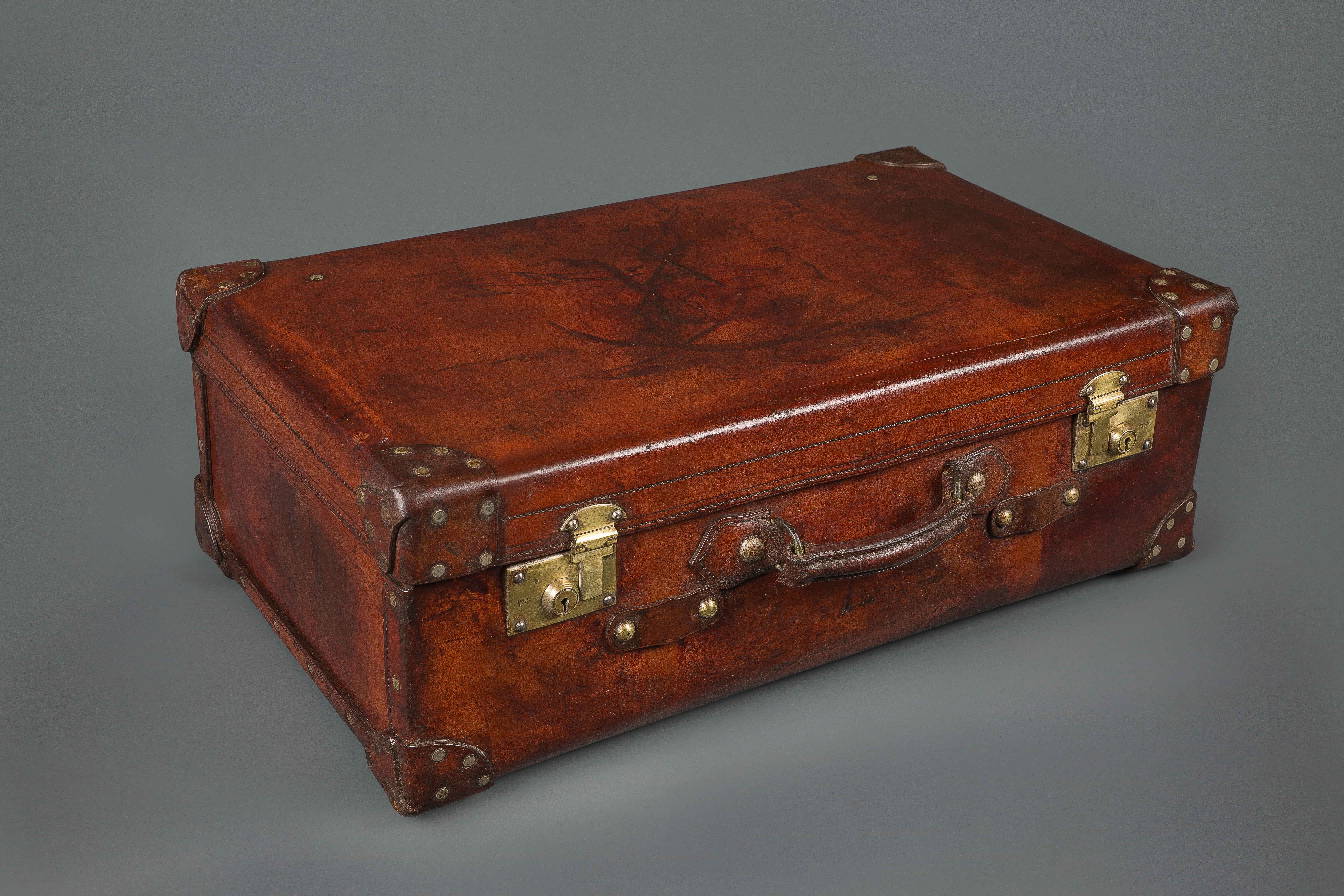 Very Fine 19th Century Leather Suitcase | Michael Pashby Antiques