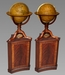 A Pair of George III 12 inch Terrestrial and Celestial Table Globes by Cary's