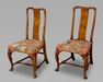 A Very Fine Pair of George I Chinese Back Walnut Side Chairs