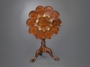Fine Brass Inlaid Scalloped Tripod Table Attributed to Frederick Hintz